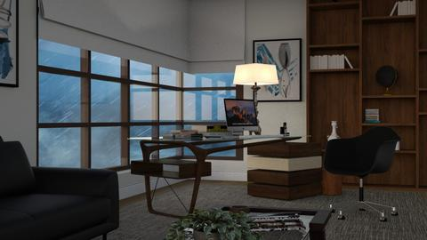 Working in a Storm - Modern - Office  - by Claudia Correia