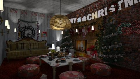 christmas living rom  - Living room  - by prasad wijesinghe