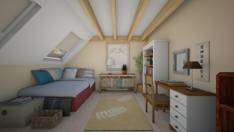 room 2 - Eclectic - Bedroom  - by Sally Simpson