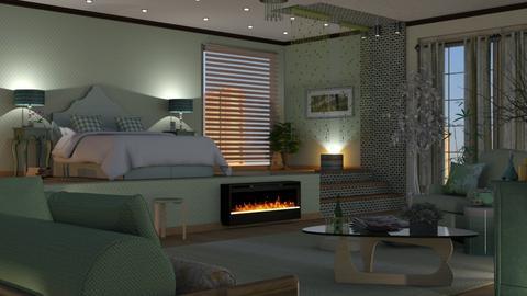 sage green bedroom - Bedroom  - by nat mi