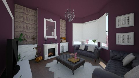 Purple Bliss Nr 30 - Glamour - Living room  - by Lisett
