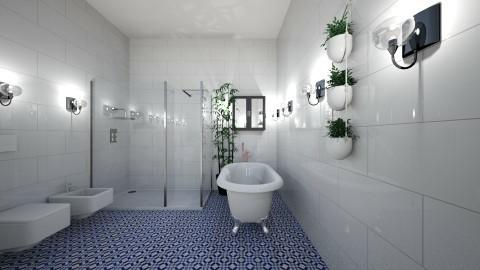 main bathroom - Glamour - Bathroom  - by sorchacullxn