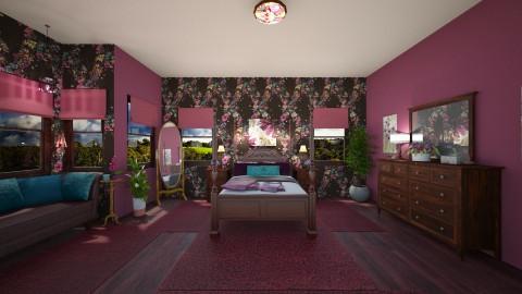 My Purple Bedroom - Vintage - Bedroom  - by  krc60