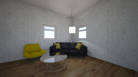 yellow and black room - Living room  - by rhod365