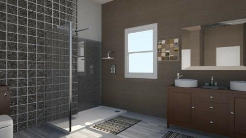 Brown Bathroom - Modern - Bathroom  - by Luana  Oliveira