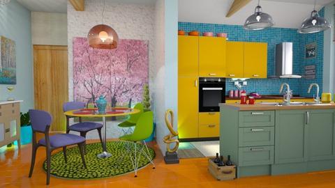 modern playfulkitchen - Kitchen - by Moonpearl