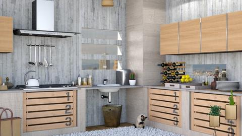 Industrial Kitchen - Modern - Kitchen  - by Isaacarchitect