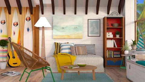 Surf culture Living - Eclectic - Living room  - by Sally Simpson