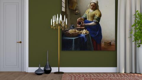 Vermeers Milkmaid - Minimal - Living room  - by HenkRetro1960