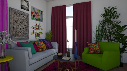 Colorful Living - Global - Living room  - by Irishrose58