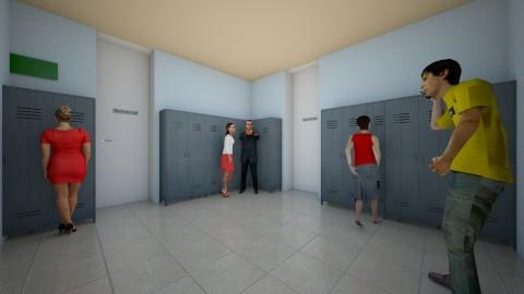 school hallway - by molly528