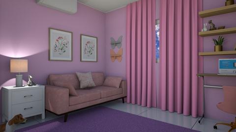 room sophi - Feminine - Bedroom  - by maji glez