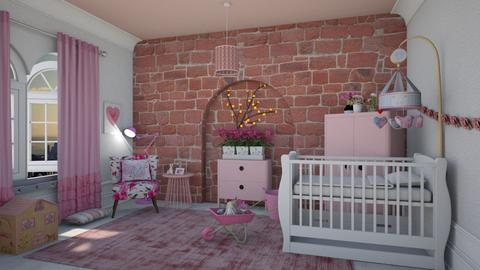 Pretty in pink - Feminine - Kids room  - by Tree Nut