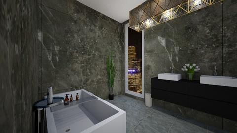 Penthouse Perfection - Modern - Bathroom  - by vikyyym