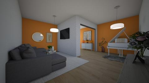 orange apartment  - by Niall chOnce