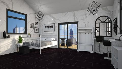Black And White - Modern - Bedroom  - by mydreamjob25