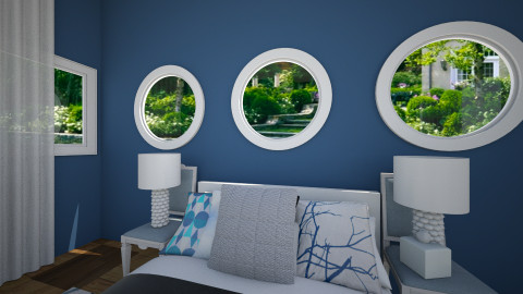 Navy and Grey - Modern - Bedroom - by Faiths441