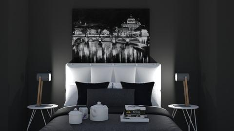 Black and White Bedroom - Bedroom  - by Alexander7