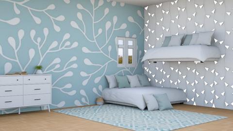 Blue Highlights - Minimal - Bedroom  - by n i n i