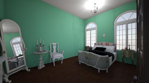 FrenchVintageUnfinishedBR - Classic - Bedroom  - by jade1111