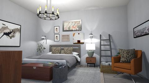 rustic industrial - Rustic - Bedroom  - by steker2344
