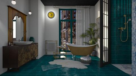 Turquoise - Retro - Bathroom - by tolo13lolo
