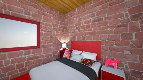Leifs Redroom Bedroom - Retro - Bedroom  - by Cvms