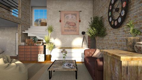 loft - Vintage - Living room - by jjannnii