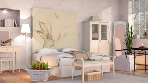 OKeeffe inspired Bedroom - Classic - Bedroom  - by Sally Simpson