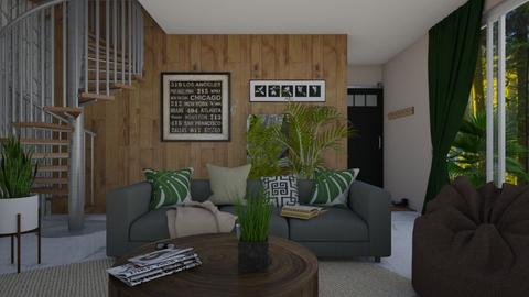 Urban Jungle - Living room - by sillvie