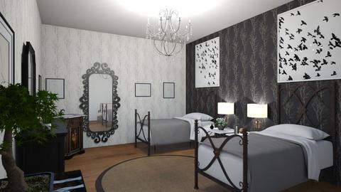 twin br - Eclectic - Bedroom  - by steker2344