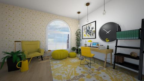 Yellow Working Space - Office  - by Intricate