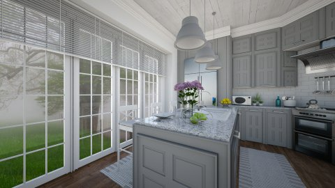 Foggy Morning - Kitchen  - by Violetta V