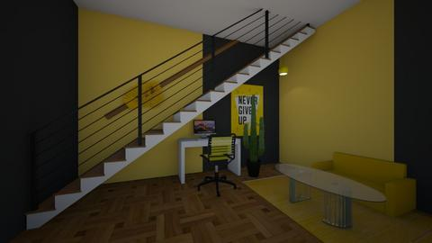 YELLOW WORKSPACE - Office  - by home_designer10