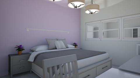 Purple Bedroom Kitchen - Modern - Bedroom  - by abbythebaddie