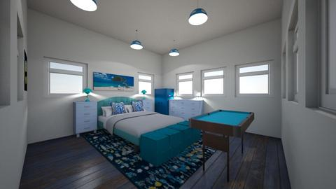 Pop one color blue - Bedroom  - by PoppsterWopster1235
