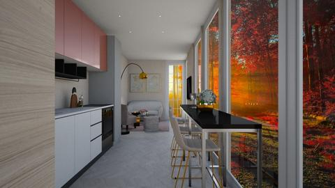 Container home - Living room  - by veroval