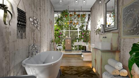 boho bathroom - Bathroom  - by BortikZemec