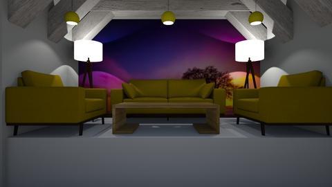 Mustard Yellow Snug - Modern - Living room  - by riordan simpson