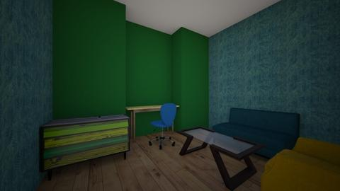 Green Yellow Blue Office  - Office - by Norie6912