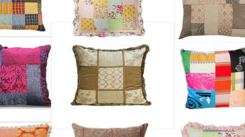 Patchwork pillows - Retro - Bedroom - by newyorkstyle