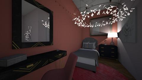 twin girl bedroom - Bedroom  - by Lia_3949