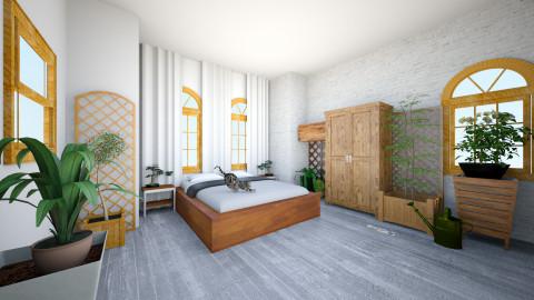 Natural bedroom - Bedroom - by mireilllllle