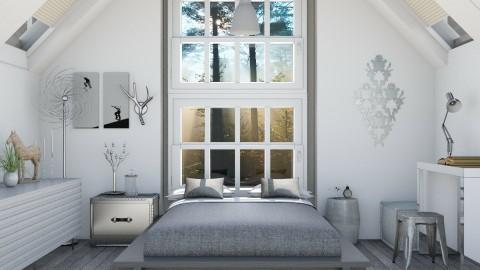 Grey - Modern - Bedroom  - by Liu Kovac
