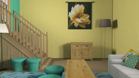 Living Room 3 - Rustic - Living room  - by ZoeZam