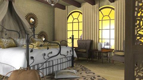 yellow bedroom - Eclectic - Bedroom  - by chania