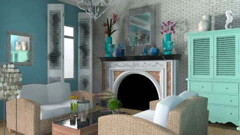 beach house - Vintage - Living room  - by smw0196