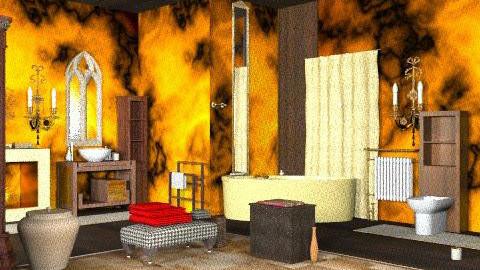fire bath - Rustic - Bathroom  - by ATELOIV87