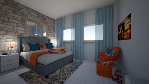 orange blue - Bedroom - by Julie_kol