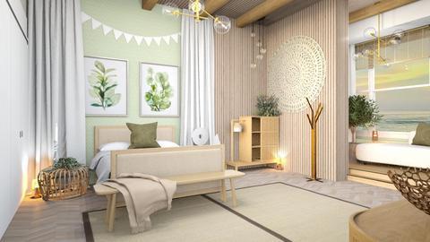 Oaky sage bedroom - Bedroom  - by hmm22